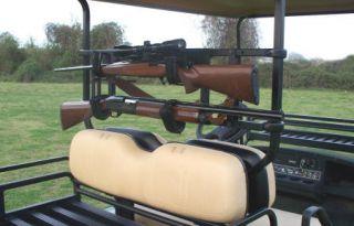 Power Ride Custom Cart Gun Rack Bad Boy EZGO Club Car Ruff N Tuff