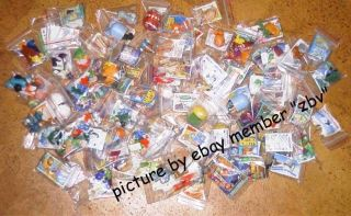 200 German Kinder Surprise Eggs Toys Unbuilt New Ferrero Job Lot Look