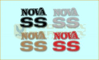 1975 1976 Chevrolet Nova SS Names Decals Kit