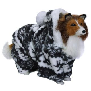 Pet Dog Hoodie Hooded Jumpsuit Coat w Reindeer Snowflake Pattern L 02786