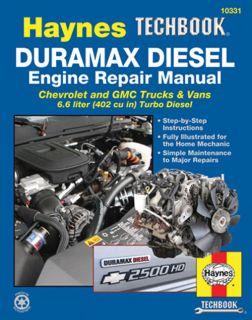 Duramax Diesel Engine Repair Manual Chevrolet GMC Truck Van 6 6 Liter 2001 2012