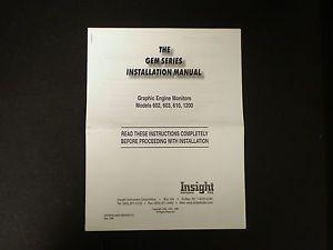 Insight Graphic Engine Monitor Installation Manual Gem Series 602 603 610 1200