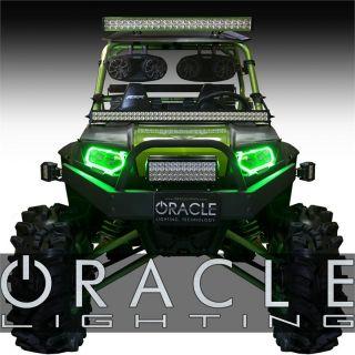 07 13 Polaris RZR ATV Green Plasma Oracle Intense Lighting Halo Kit Off Road