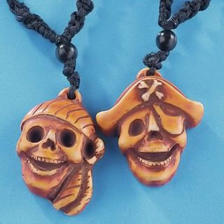 12 Pirate Necklaces Skull Pirates Birthday Party Favors Jolly Roger
