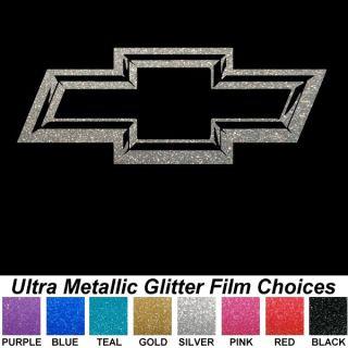 3D Look Ultra Metallic Chevy Bowtie 13 inch Auto Car Truck Window Sticker Decals