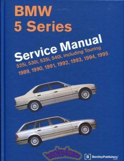 Shop Manual Service Repair Book 89 95 BMW E34 5 Series Bentley Workshop Guide