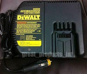 Dewalt DW0249 24V Battery Charger 12V Automotive Plug for DW0242 DW0240 DW0246