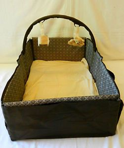 Eddie Bauer Portable Infant Baby Travel Bed Crib Carrier Changing Station