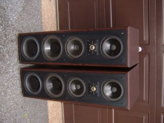 Vintage Polk Audio 11T Monitor Series Towers Columns 39 inches Tall w Risers