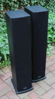 Polk Audio R 40 R40 Monitor Tower Speakers Home Audio Theater Black Working