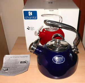 Chantal Classic Harmonica Tea Kettle Cobalt Blue Enamel Made in Germany