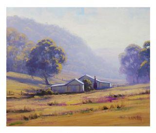 Gercken Summer Morning Lithgow Australian Farm Painting Landscape Fine Art Oil