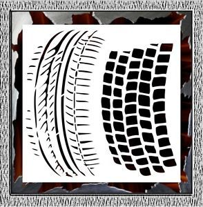 Tire Grain Airbrush Stencil Template Paint Wall T Shirt Artwork Decor 003250Y L