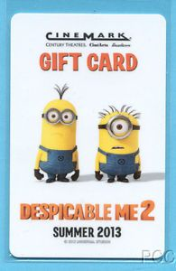 Cinemark Despicable Me 2 2013 Gift Card
