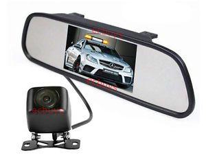 """P263 LCD 5"""" inch Mirror Monitor Backup Camera Car Rear View Reversing Kit"""