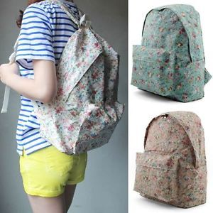 Unihood New Womens Cute Small Flower Floral Backpack Girls School Bags Backpacks