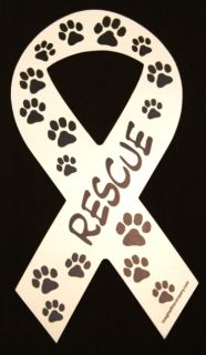 Rescue Ribbon Dog Magnet Made in USA Dog Rescue Car Magnet Dog Great Lover Gift