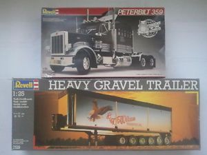 Revell Peterbilt 359 Black Magic Heavy Gravel Trailer 1 25 Neu