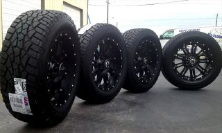 "20"" Black Wheels Tires Dodge Truck RAM 1500 20x9 Lonestar 20 inch Rims"