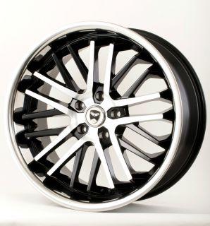 """20"""" Black w Chrome Lip Wheels Rims Nissan Altima Maxima Murano Quest Rogue"""
