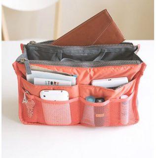 Travel Insert Red Handbag Organiser Purse Large Liner Tidy Bag Pouch Freeshipp
