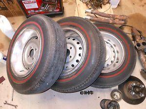 Triumph TR6 Wheels Tires Spares Redline Tires