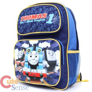 "Thomas Tank Engine Friends 14"" School Backpack Book Bag w Lunch Bag Set"