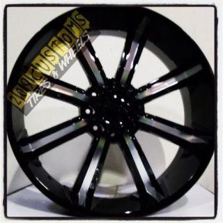 "26 inch 26"" Dcenti 903 Black Wheels Rims Tires 8x165 315 40 26 Hummer H2 2001"