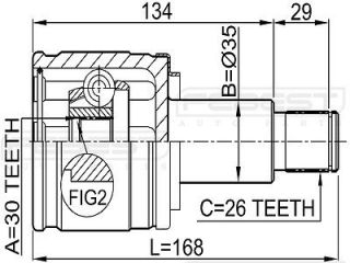 Inner CV Joint Right 30x35x26 Suzuki Grand Vitara JA627 2001 2006 44114 67D01