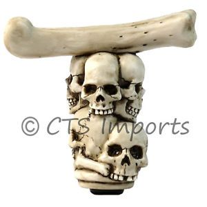 Skulls Bone Gear Shift Knob Hearse Rat Hot Rod Car New