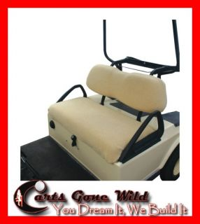 Golf Cart Seat Cover Cushioned Universal Fit Club Car EZGO Yamaha Star Etc