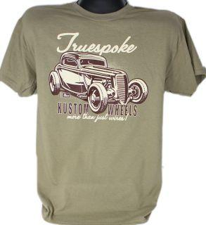 Hot Rod T Shirt Ford Rat Rod Truespoke Wire Wheels Truspoke Tru Spoke True Spoke