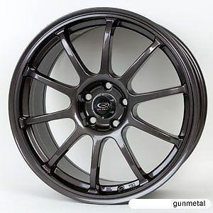 18 Rota G Force Gunmetal Rims Wheels evo8 EVO9 EVO 9 x Evolution