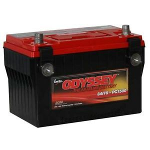 New Odyssey PC1500 Group 34 78 Dry Cell AGM Auto Battery Made in USA