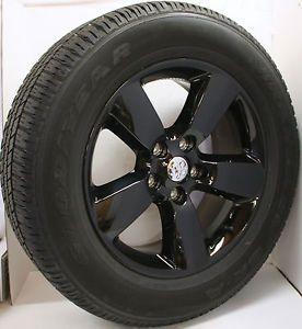 "New Set 4 2014 Dodge RAM 1500 Black Express 20"" Wheels Rims Goodyear Tires"