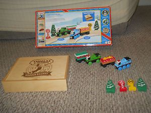 Thomas Tank Engine Wooden Railway Train Christmas Holiday Gift Pack Set