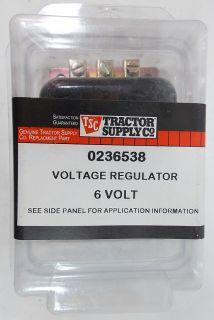 Tractor Supply Voltage Regulator 0236538 Positive Ground 6 Volt