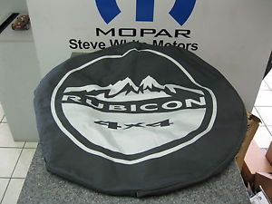 Wrangler Spare Tire Cover Mopar P255 75R17 P255 70R18 Rubicon 4x4 Black Denim OE