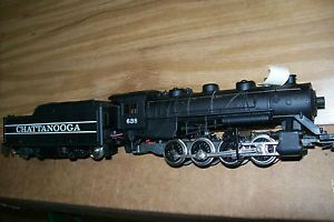Vintage Tyco Chatanooga 638 HO Steam Locomotive Engine Toy Train w Tender