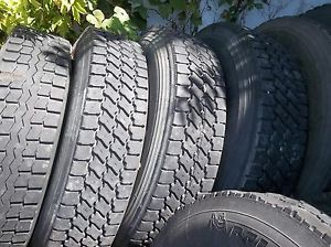 Used Semi Truck Tires 22 5 and 24 5
