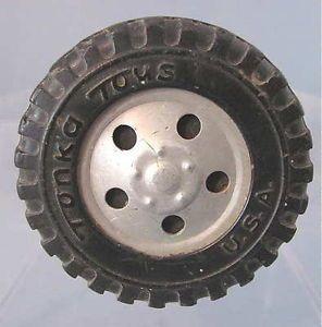 "Original 1950s Tonka Toys Truck Tire Axle Hub 2 1 4"""