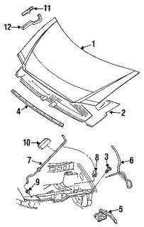 Chrysler Dodge Plymouth Mini Van Hood Latch Assembly Lock