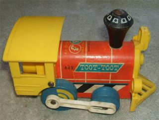 Fisher Price 643 TOOT TOOT Train Engine 1964 Wood