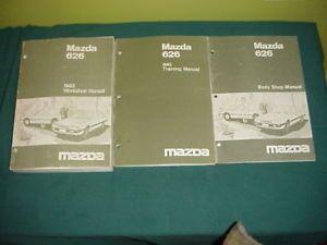 1983 83 Mazda 626 Shop Service Repair Manual 3 Vol Orig
