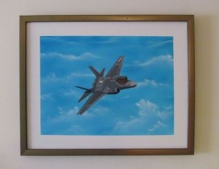 F 35C Joint Strike Fighter Signed Original Oil Painting