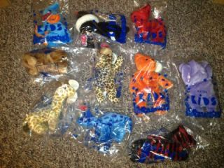 1997 Avon Full O'Beans Beanie Babies Lot of 10 Bear Elephant Seal Girafee