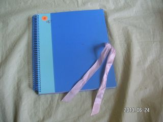 Blue Monthly Calendar Greeting Card Mail Organizer Bill 12 Pocket File Binder