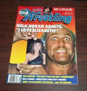 Vintage Inside Wrestling Magazine May 1989 Mega Powers Hogan Savage Elizabeth