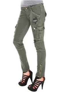 Grey Green Cargo Skinny Jeans