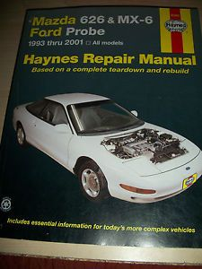 Ford Probe Mazda 626 MX6 Haynes Repair Manual 1993 thru 2001 Complete Reardow